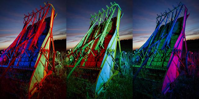 RGB Farm Implement Tripych