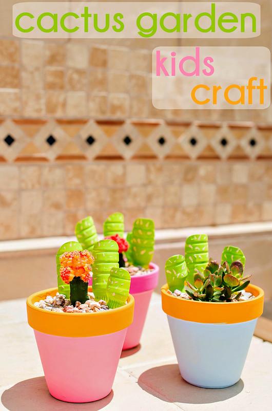 cactus garden kids craft tutorial #WhereFunBegins