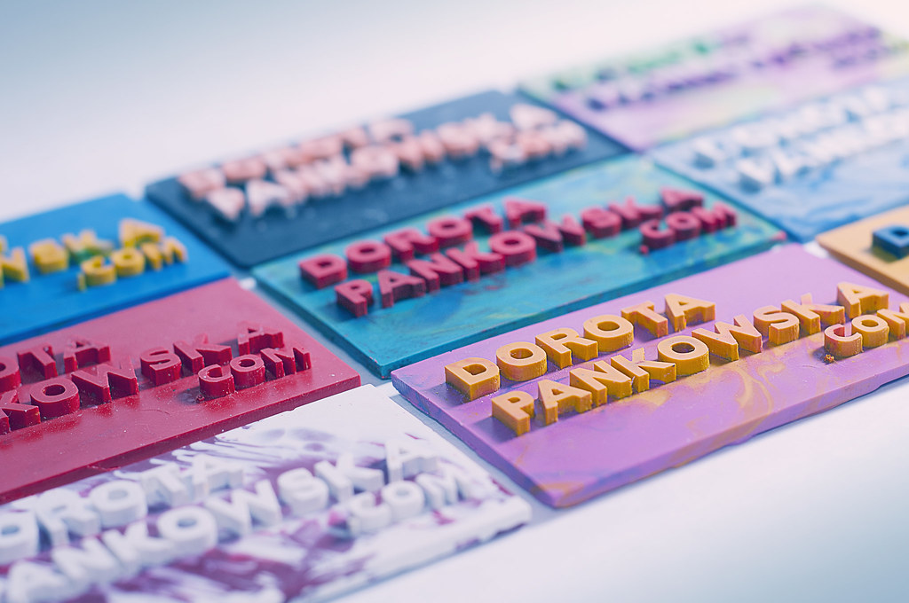 creative business cards, crayon business cards, cards made out of melted crayons