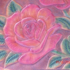 #roses on #leather
