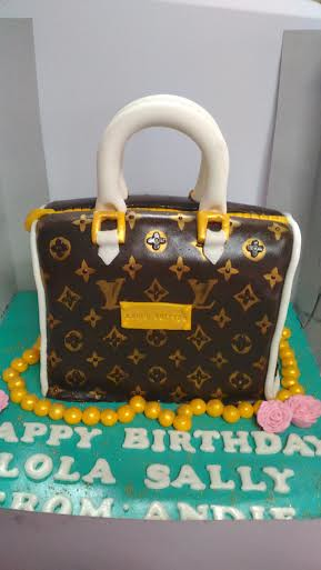 Louis Vuitton Bag Cake by Roxys Fondant Cakes of Roxy GL