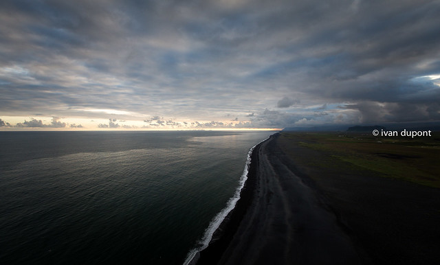 The infinite black beach, Dyrholaey, Iceland