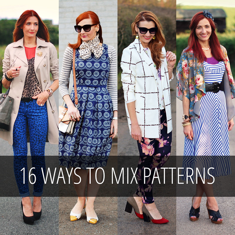 16 Ways to Mix Patterns - from subtle, to head-to-toe