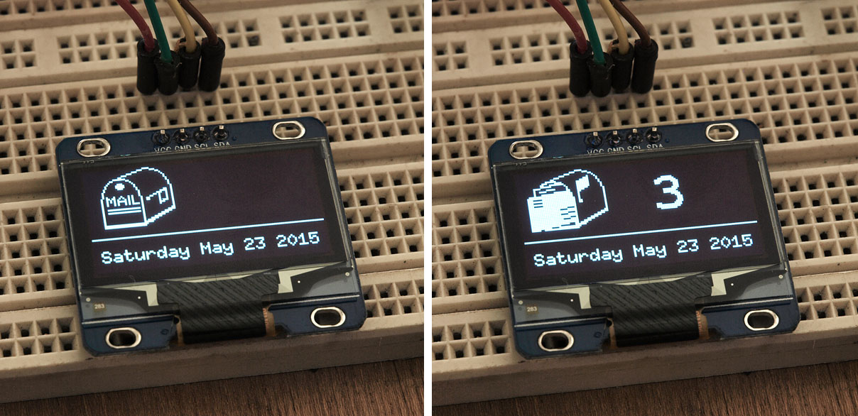 tiny OLED 128x64 calendar display (arduino) - Page 1
