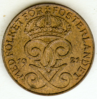 Coin photography - 1921 Sweden one cent