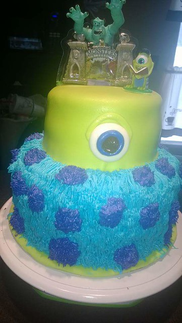 Monster's University Themed Cake by Misty Boggs of Simply Sweet Cupcakes