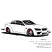 BMW M3 Widebody - Incurve Forged Wheels - Pencildrawing by www.autozeichnungen.net