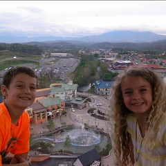 For once, a view we didn't work our butts off for. They said THANKS DADDY! WE MISS YOU! #Skywheel