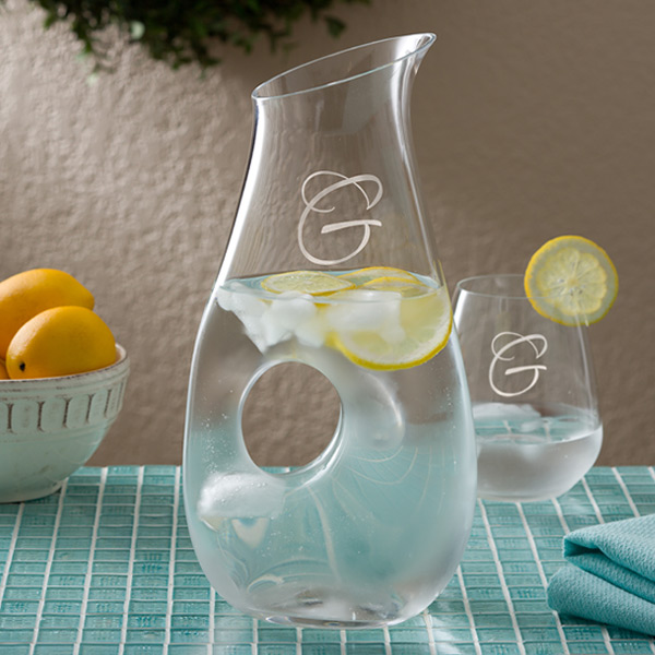 Mother's Day Gift Engraved Initial Carafe