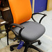 2 tone swivel 2 lever chair