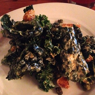 Kale caesar salad at Portobello in PDX