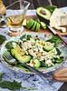 Avocado and blue cheese salad