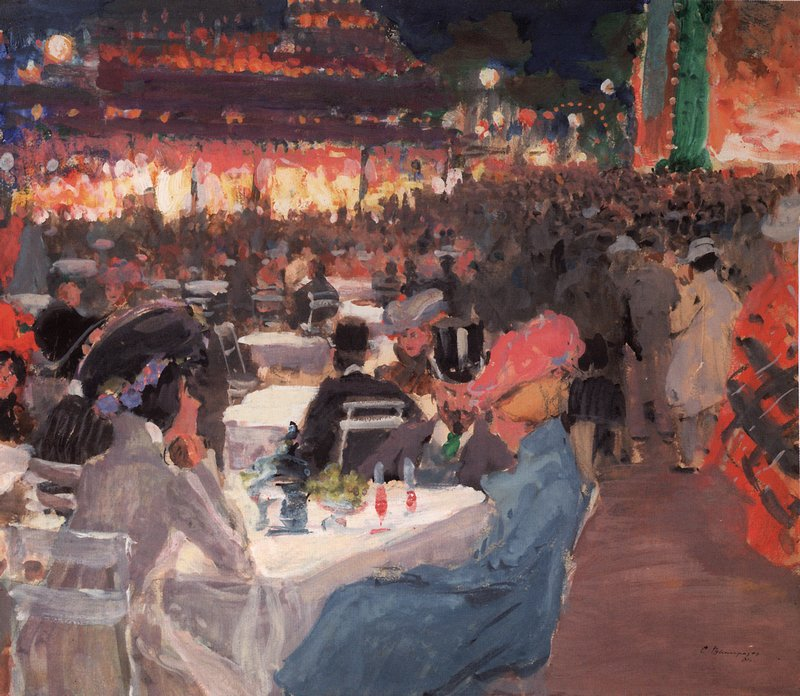 Night Cafe by Sergei Arsenevich Vinogradov - 1901