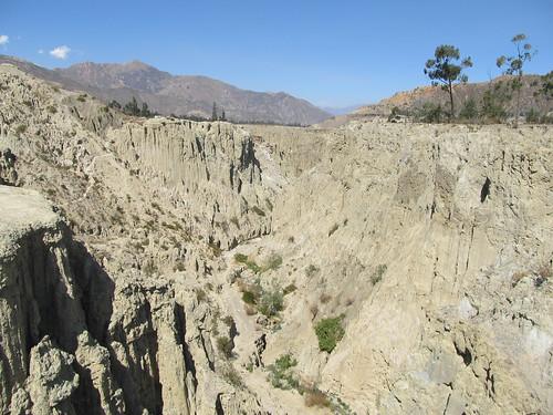 El Valle de la Luna: la canyon assèché