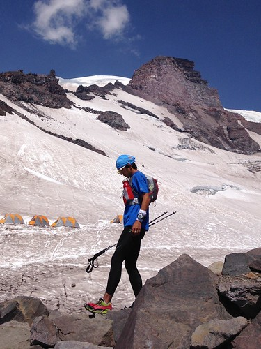 カスケード山脈の最高峰、レーニエ山にて。