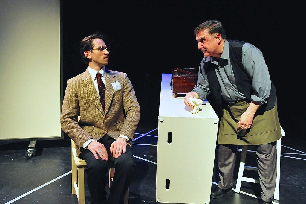 <p>Benjamin Koontz as Max and John Brennan as Cobbler<br /> <br /> Photo by Valentine Radev</p>