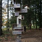 Birdhouse sculpture Yorkshire sculpture park