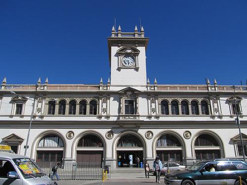 La Paz: la gare du téléphérique