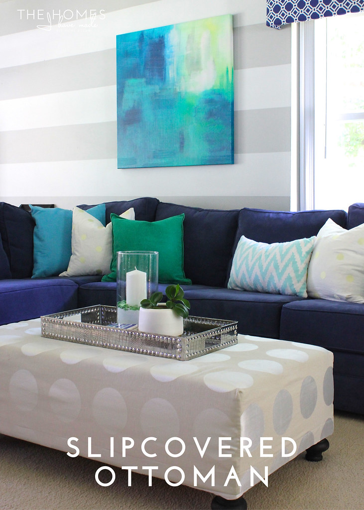 Hits and Misses: Home Decor Edition - Slipcovered Ottoman