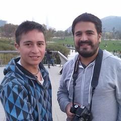 Con el amigo @dariovj, él trotamundos de la @mochilasinlucas que vino del sur y que ahora anda en tierras argentinas... que tengas buen viaje!