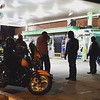 Motorcycle gang at gas station, shortly before the beatdown (kidding) #igdc