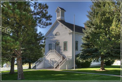 trees sky church rural landscape utah chapel bryce mormon brycecanyon lds pinevalley ebenezerbryce