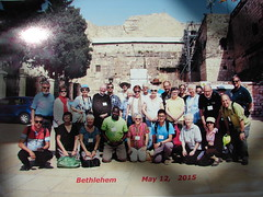 Delegation photo at the Church of the Nativity in Bethlehem