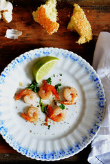 scampi with shallots and garlic