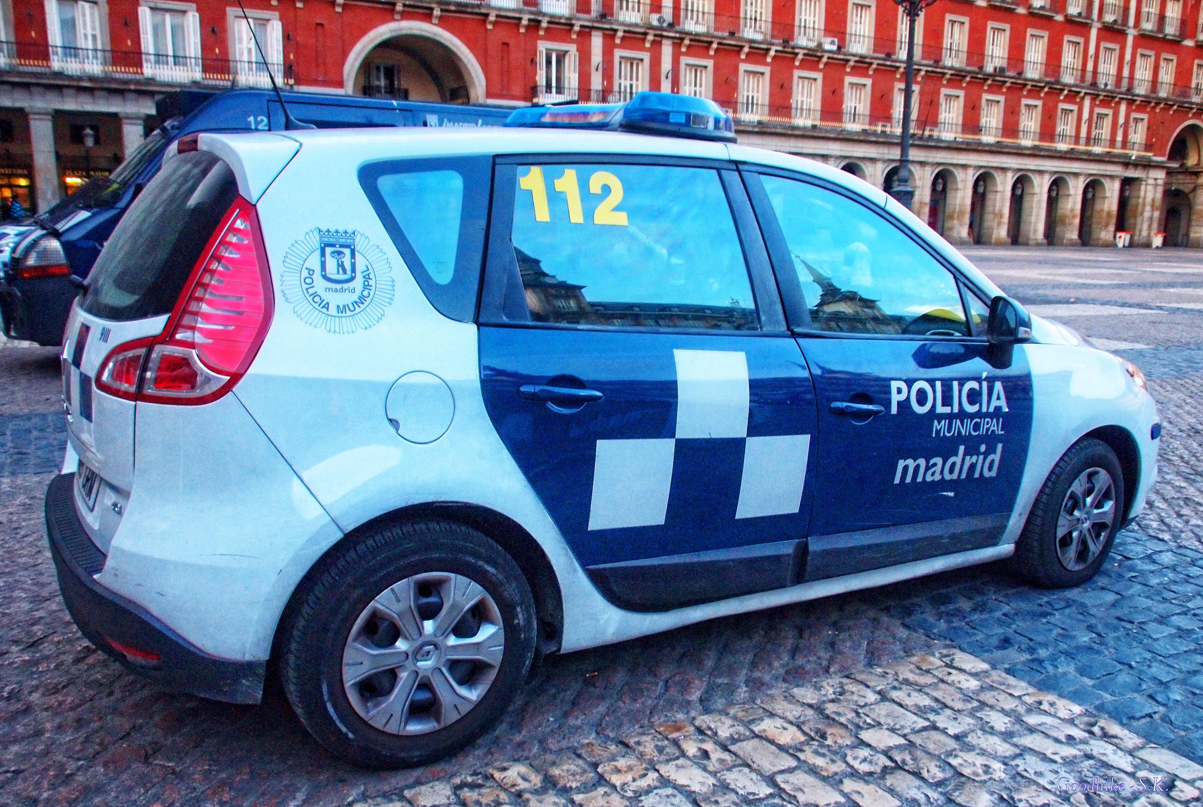 Police Car in Madrid, Spain