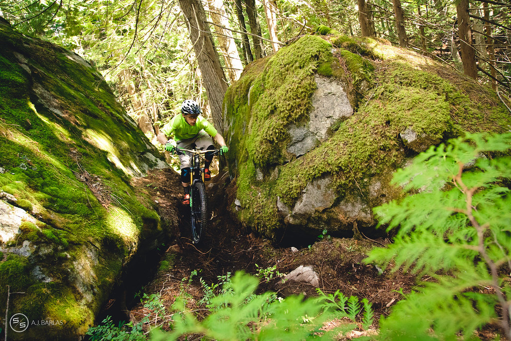 Davis English on Fat Tug at the Pemberton Enduro