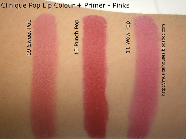 Clinique Pop Lip Colour Primer Swatches Pinks