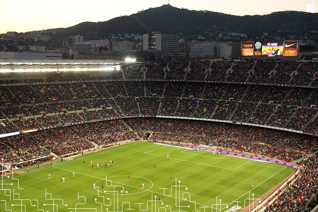 Camp Nou ao entardecer, Barcelona 4 x 0 Almeria