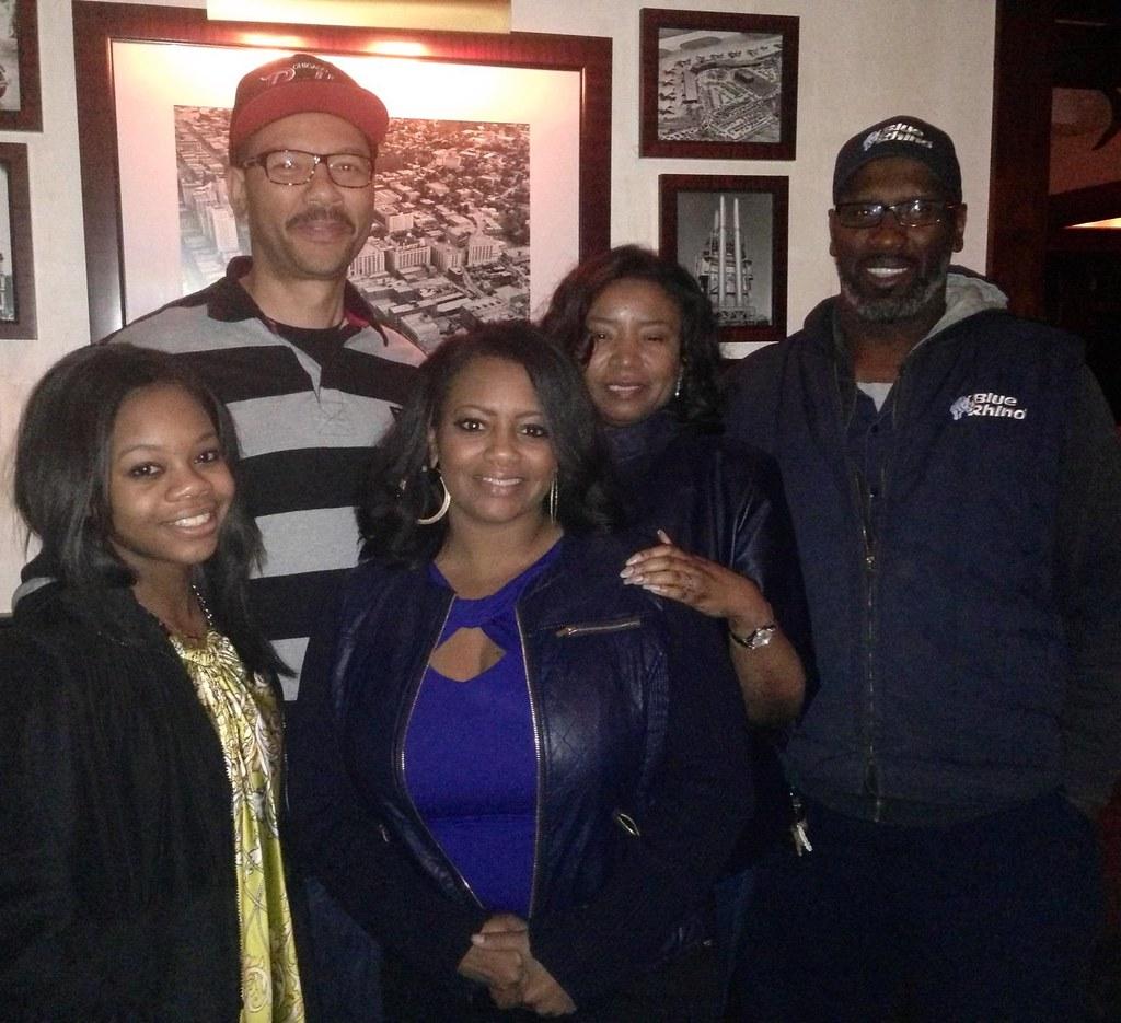 Gabby Douglas, Teresa and family