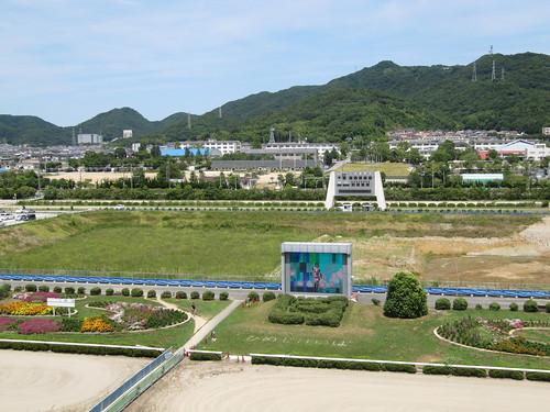 姫路競馬場の特観席からの眺望