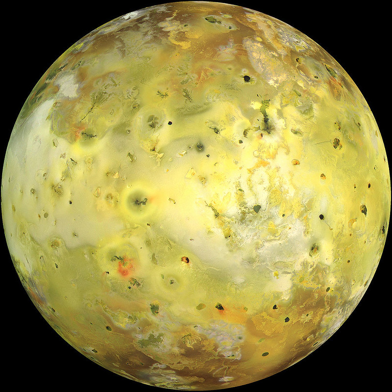 Io, the moon of Jupiter, acquired by NASA's Galileo spacecraft