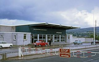 1968 Strabane Northern Ireland, Ulster, border, customs