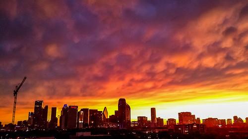 light skyline clouds us dallas downtown texas unitedstates tx