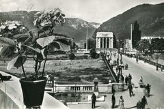 bolzano - postcard - ponte talvera - 1957