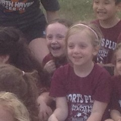 Teagan was hiding behind her classmate for most of the team pictures. I did catch one good smile though. #soccer