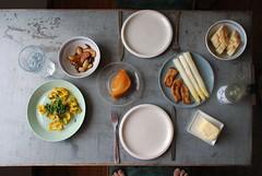 Sunday Lunch - Asparagus w/ Eryngii Schnitzel