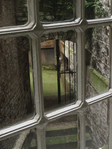 A window in the Crumlin Road Gaol (Jail) in Belfast, Ireland