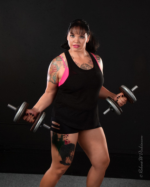 Jess with Small Barbells
