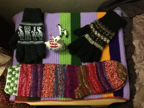 Puno: achats du jour au marché artisanal. Prêts pour les soirées froides !