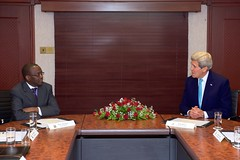 U.S. Secretary of State John Kerry meets with Kenyan Chief Justice Willy Mutunga in Nairobi, Kenya in May 4, 2015. [State Department Photo/Public Domain]