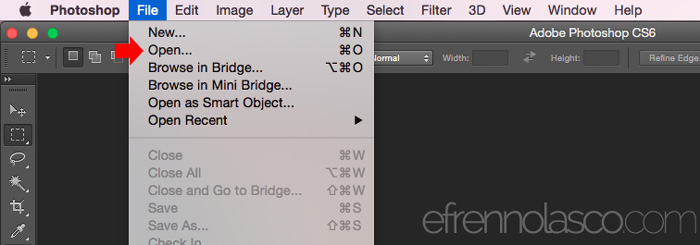 How to apply Blur Effect Using Photoshop Step 1