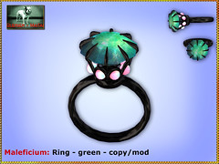 Bliensen - Maleficium - Ring - green