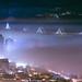 Morning misty fog - San Francisco by davidyuweb