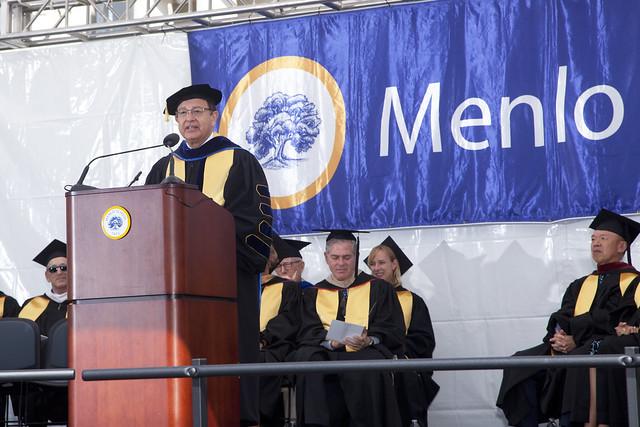 USC President C. L. Max Nikias at Menlo School in Atherton, CA
