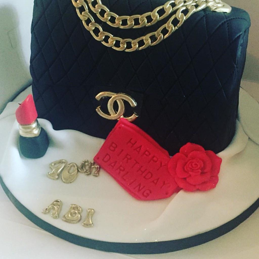 Black Chanel handbag cake made for Abigail s 40th birthday…  141225dbddb7e