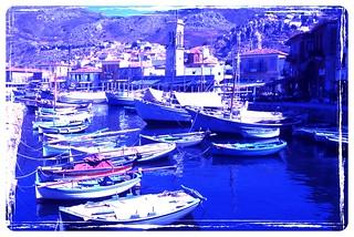 Greek island boats